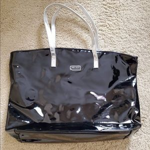Jimmy Choo patent travel tote